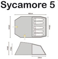Палатка Highlander Sycamore 5 Meadow